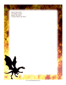 Fire Dragon Stationery