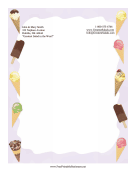 Ice Cream Stationery