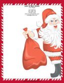 Jolly Santa Candy Cane Border
