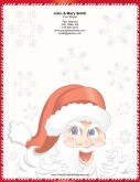 Jolly Santa Red White Candy Cane Border