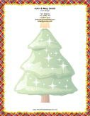 Large Christmas Tree Colorful Plaid Border