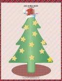 Large Christmas Tree Gold Stars