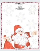 Large Jolly Santa Candy Cane Border