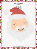 Large Santa Portrait Candy Canes