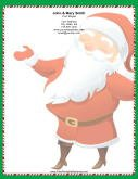 Large Smiling Santa Candy Cane Border