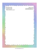 Rainbow Mosaic Stationery