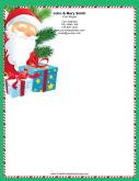 Smiling Santa Candy Cane Border