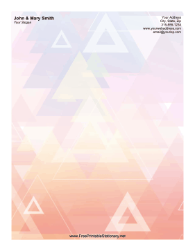 Abstract Triangle stationery design