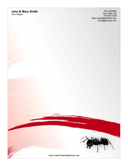 Ant Red stationery design
