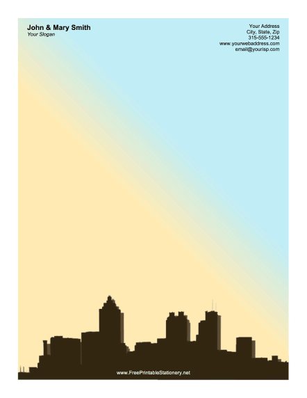 Atlanta Skyline stationery design