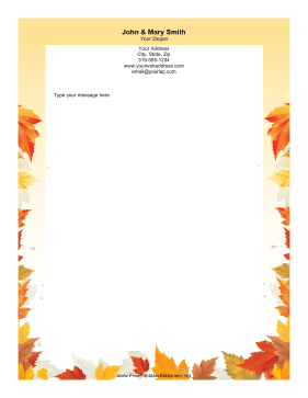 Autumn Leaves stationery design