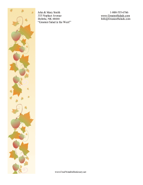 Autumn Stationery stationery design