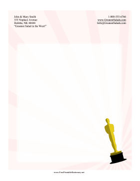 Awards Show Stationery stationery design