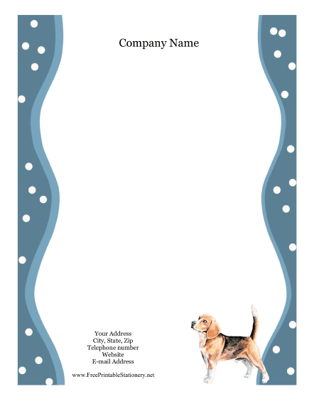 Beagle stationery design