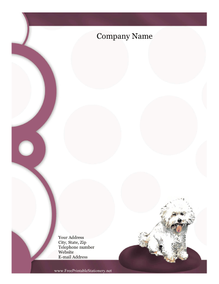 Bichon Frise stationery design