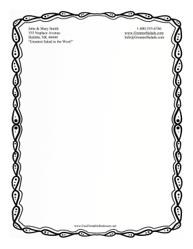 Black And White Sketch Stationery stationery design