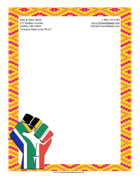 Black History Month Stationery stationery design
