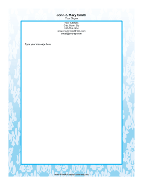 Blue Leaf stationery design