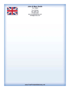 British Flag stationery design