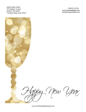 Bubbly New Year Stationery stationery design