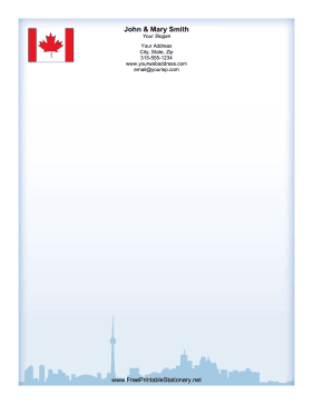 Canada Skyline stationery design