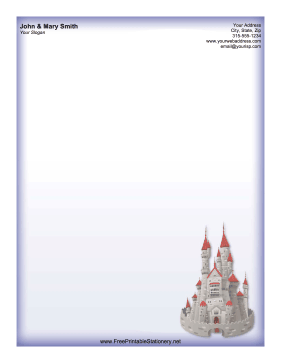 Castle stationery design