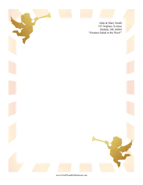 Cherub Stationery stationery design