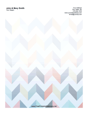 Chevron stationery design