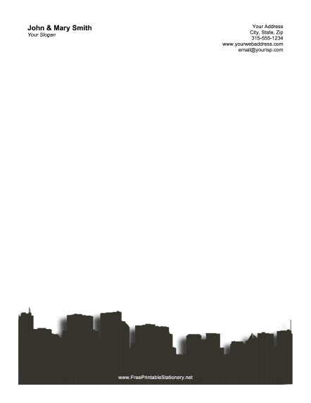 Chicago Skyline stationery design
