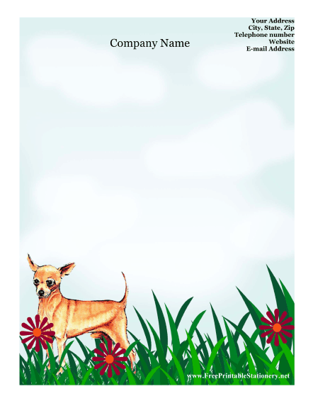 Chihuahua stationery design