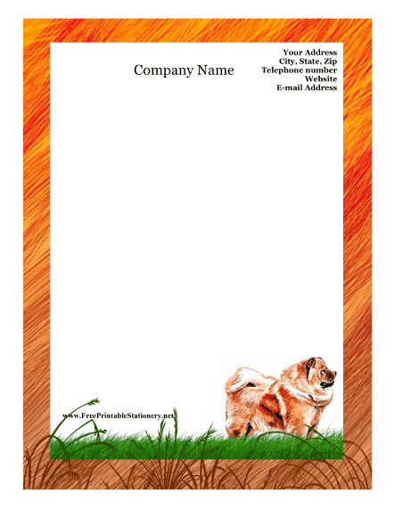 Chow Chow stationery design