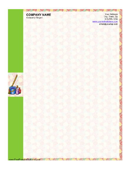 Cleaning Service stationery design