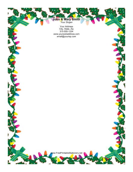 Colorful Lights stationery design