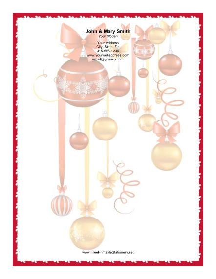 Colorful Ornaments stationery design