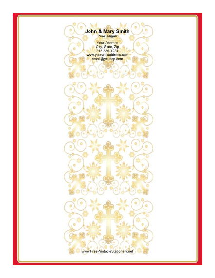 Column of Crosses stationery design