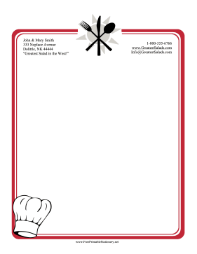 Cooking Stationery stationery design