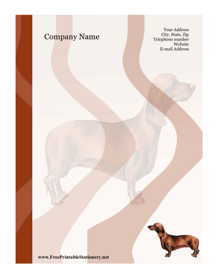 Dachshund stationery design