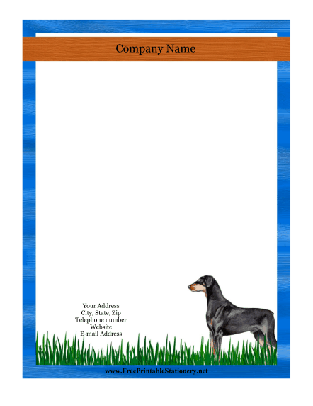 Doberman stationery design