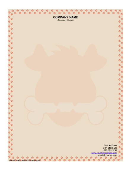 Dog stationery design