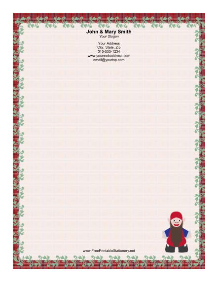 Elf with Long Beard stationery design
