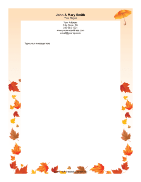 Fall Leaves stationery design