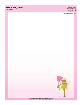 Flower Fairy stationery design