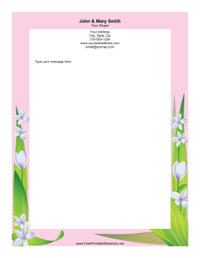 Flower Fronds stationery design