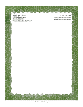 Forest Mosaic Stationery stationery design