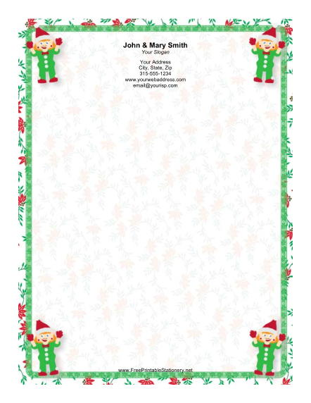 Four Elves stationery design