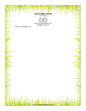 Grass Border stationery design