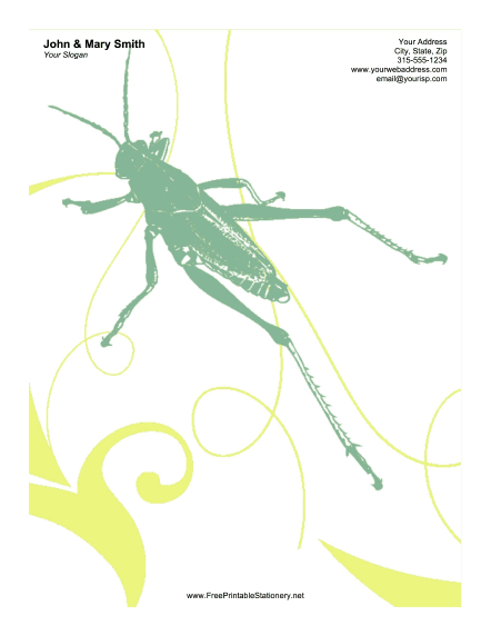 Grasshopper stationery design