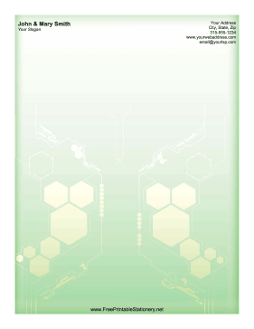 Green Hexagon stationery design