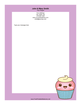 Happy Cupcake stationery design