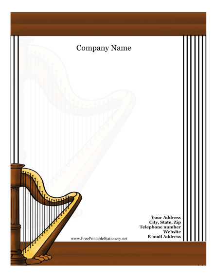 Harp stationery design